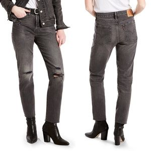 Levi's | Wedgie Icon Distressed Straight Leg Jeans